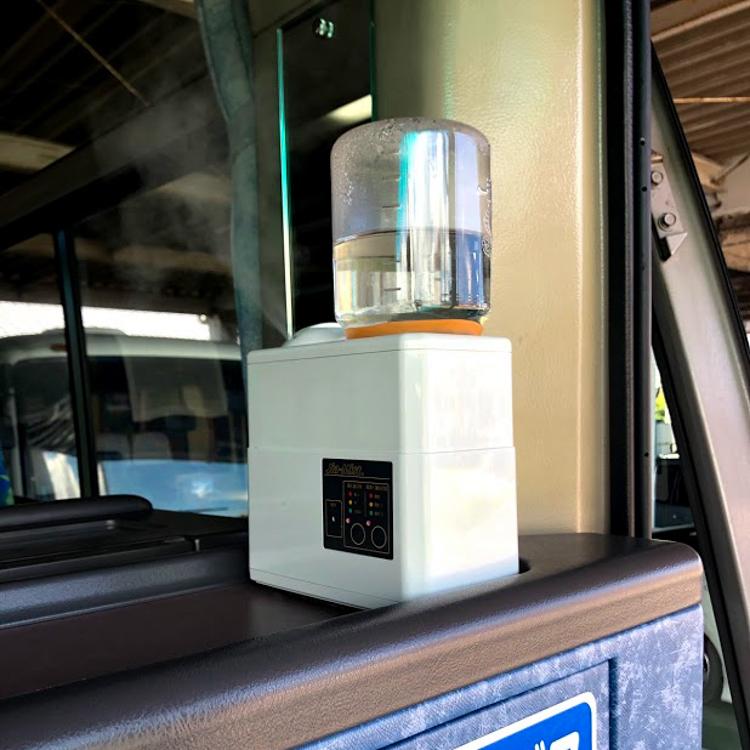バス用除菌噴霧装置の設置